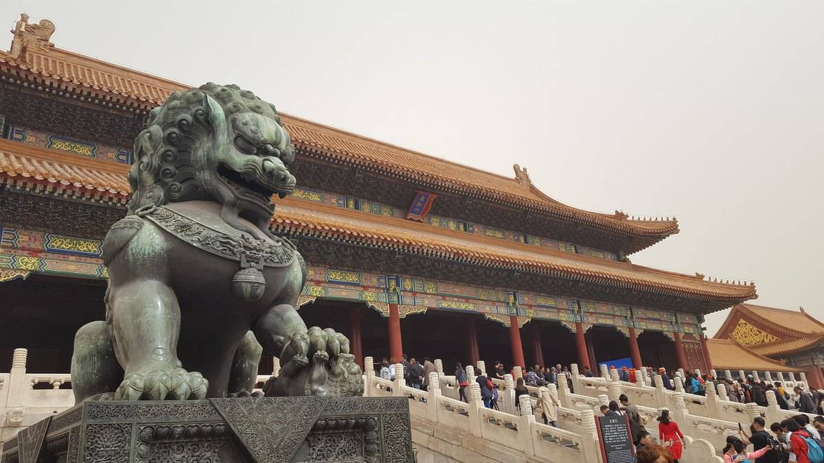 The Forbidden City in Beijing China.