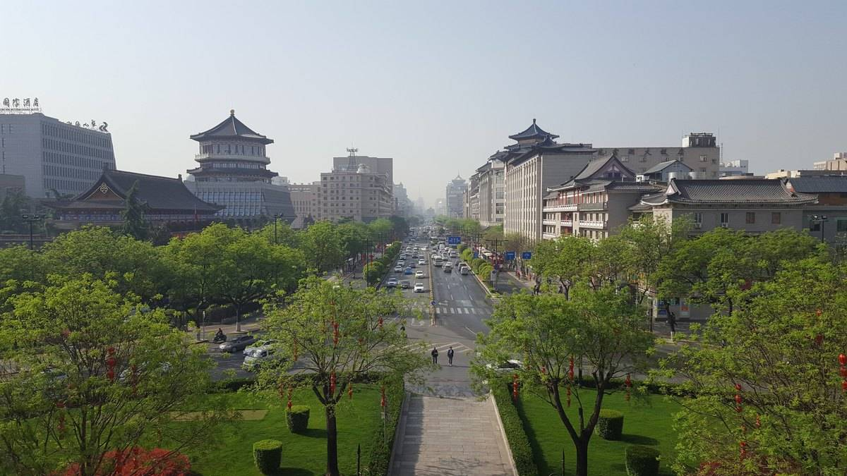 Xian China seen from the North Gate.