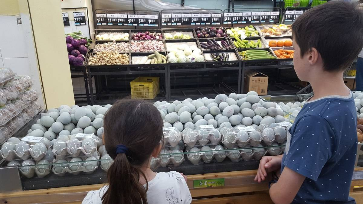 If you find a supermarket - stock up. But maybe not on these 1000 year old eggs.