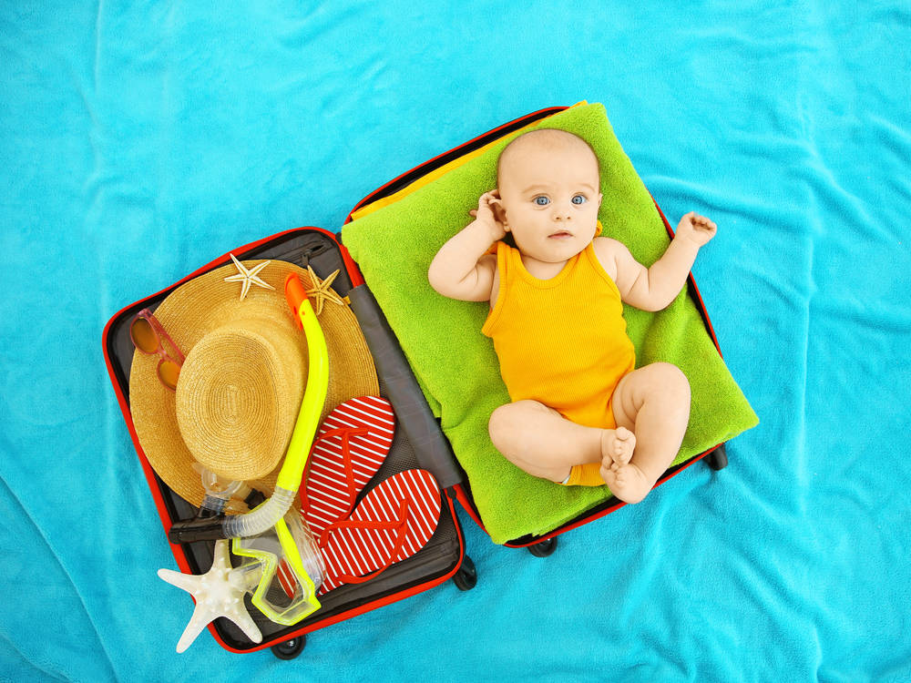 Packing light is not possible with a baby.