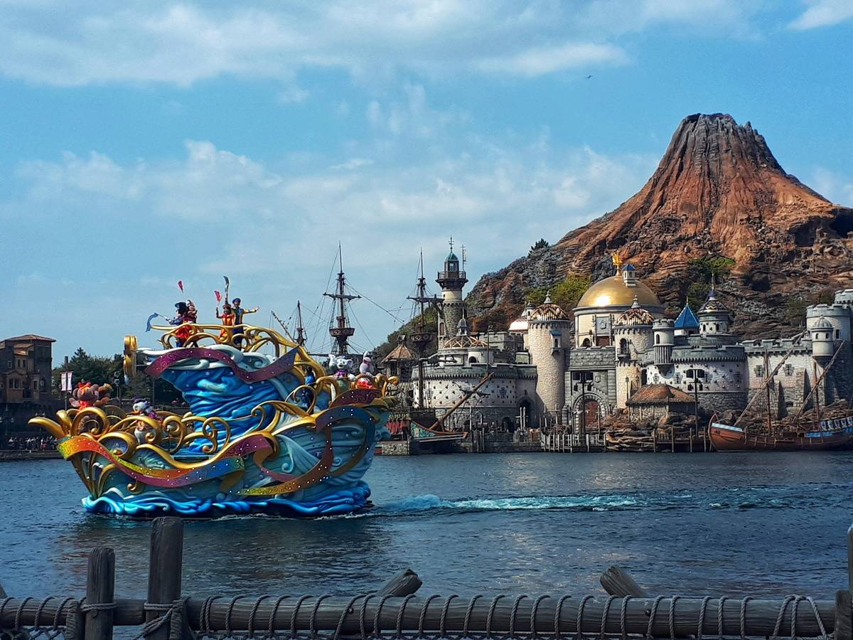Disney boat on Mediterranean Harbour at Tokyo Disney Sea
