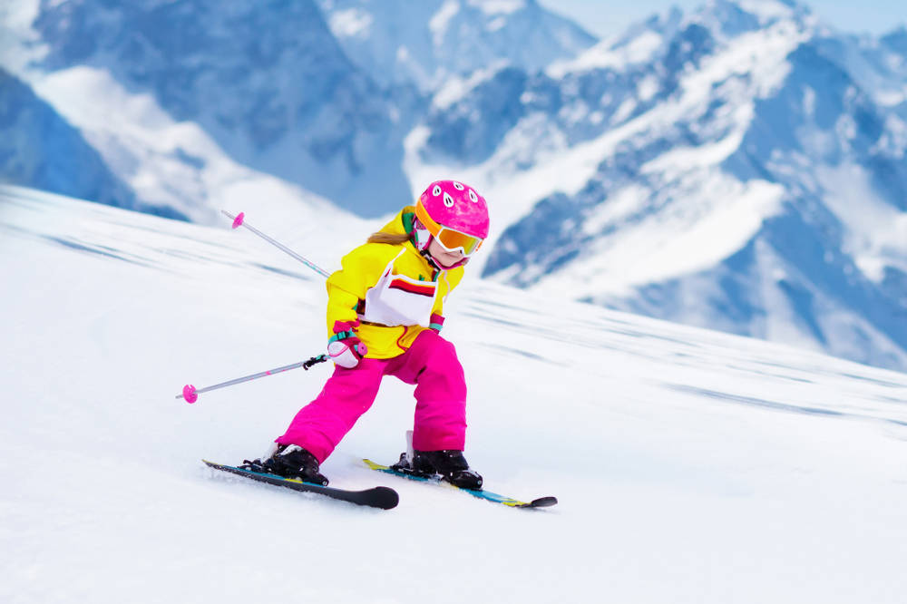 Yes, she can ski really well - but those pants won't fit next year.