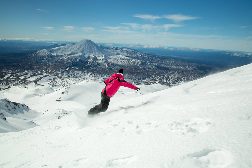 More Australians are discovering the thrill of skiing an active volcano in NZ.