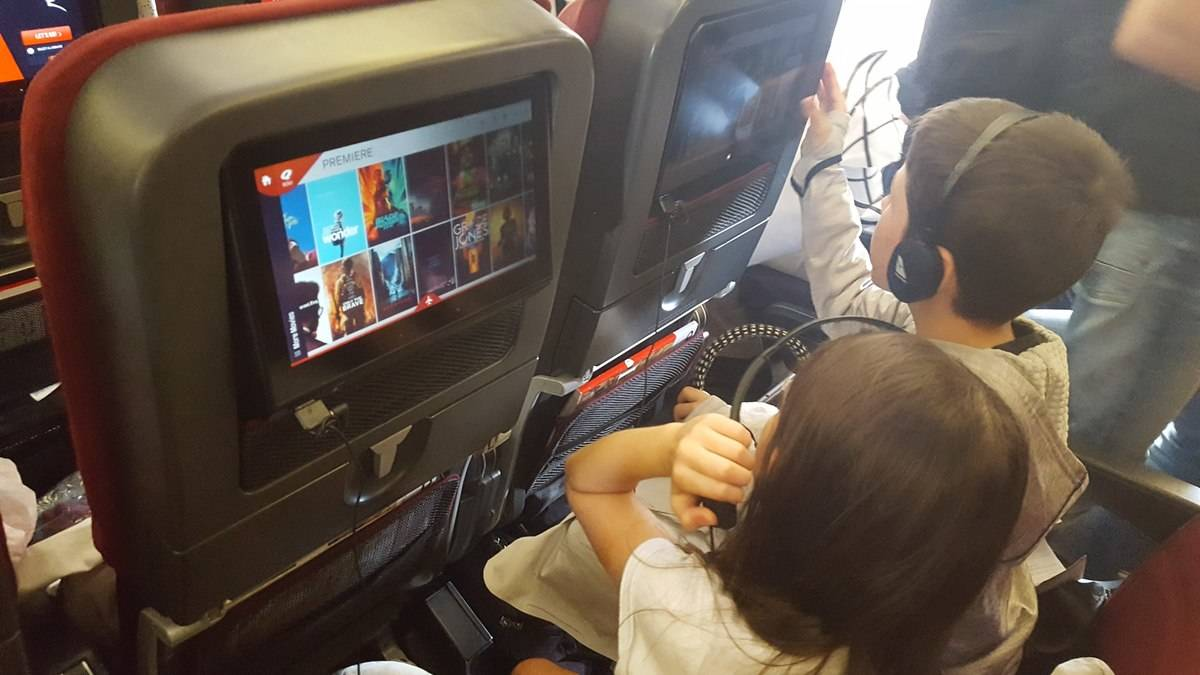 Mums and Dads will be grateful for in-flight entertainment - anything to keep occupied.