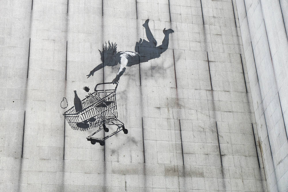 Keep a look out for Banksy art in London.
